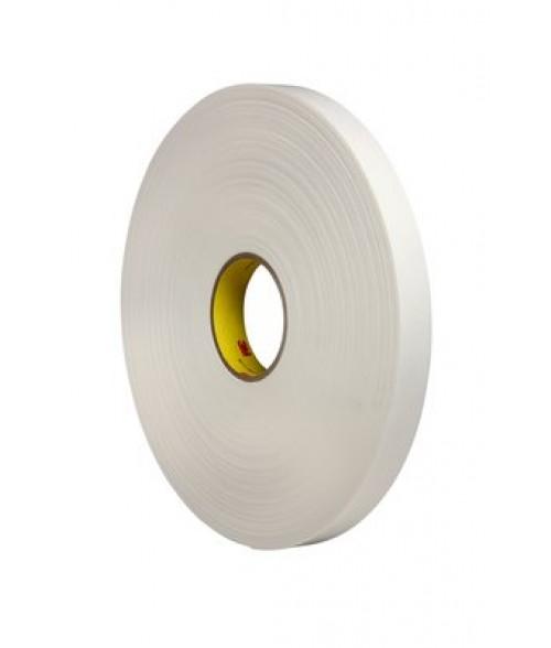 "3M 4462 White 1"" x 72yd Foam Tape (1/32"" Thick)"