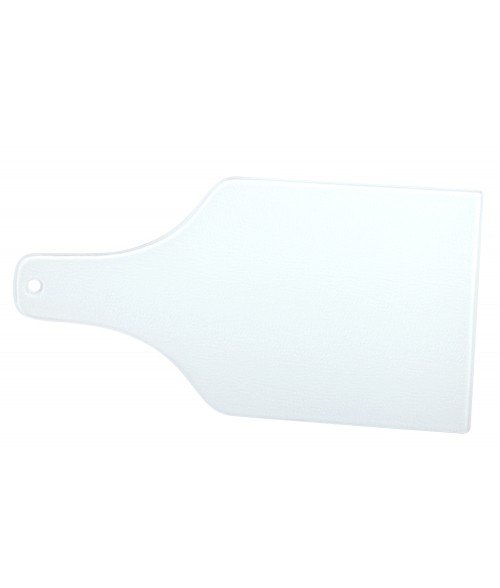 "Wine Bottle 14"" x 7-3/8"" Glass Cutting Board With White Bottom"