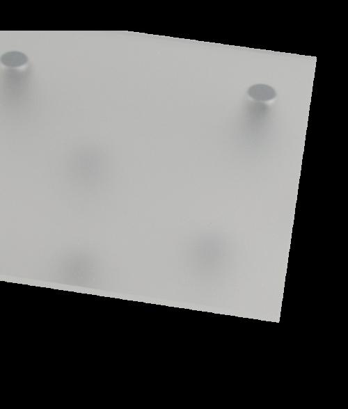 "Rowmark Color Hues Matte Clear .080"" Translucent Engraving Plastic (48"" x 96"" Sheet)"