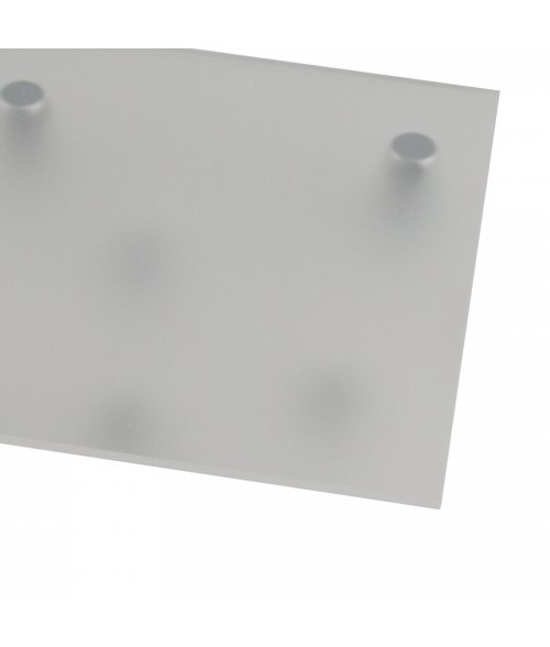 "Rowmark Color Hues Matte Clear 1/8"" Translucent Engraving Plastic (48"" x 96"" Sheet)"