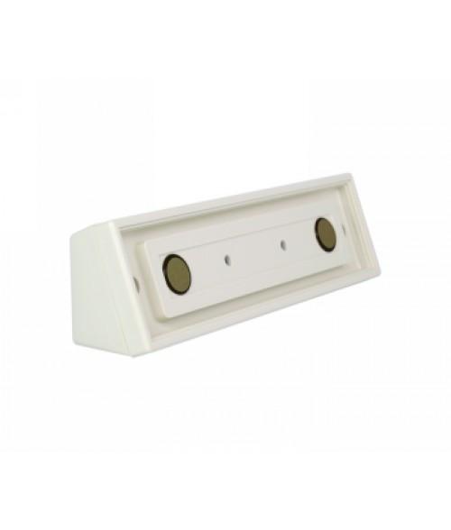 "Rowmark Portico Linen White 2"" x 8"" Square Desk Poly Frame"