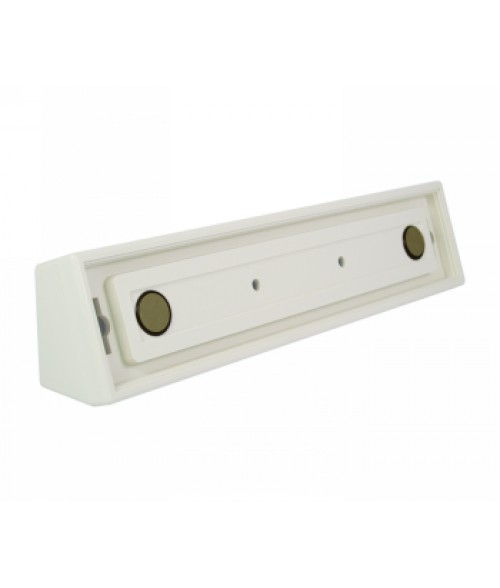 "Rowmark Portico Linen White 2"" x 10"" Square Desk Poly Frame"