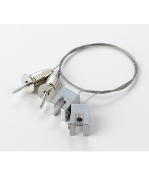 """Rowmark Silver 24"""" Square Meridian Cable System (2/Pkg)"""