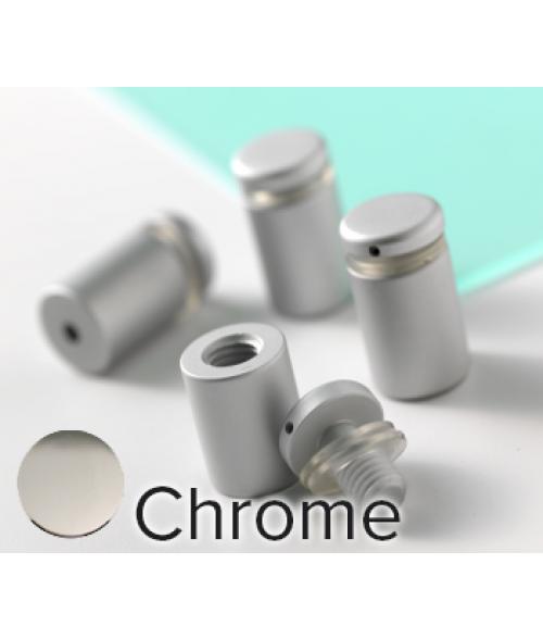 "Rowmark Dimensional Design Mount Chrome Stand-offs (.625"" Diameter .75"" Barrel Length)"