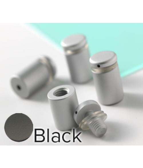 "Rowmark Dimensional Design Mount Black Stand-offs (.75"" Diameter 1"" Barrel Length)"