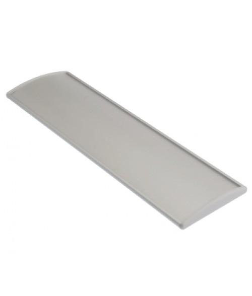 "Rowmark Nouveau Silver 3.1"" x 10"" Curved Frame (Grey Endcap)"