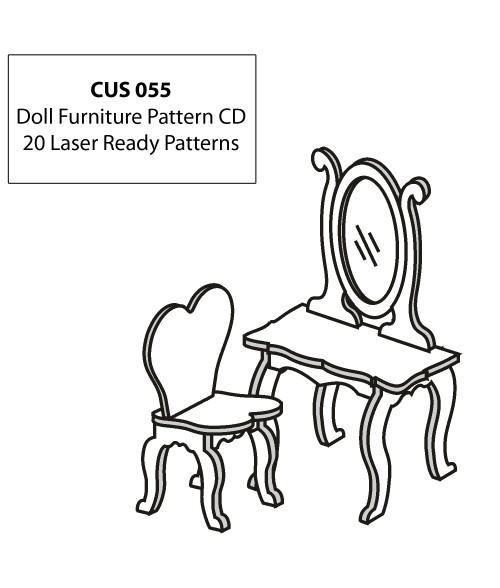 LaserBits CorelDRAW Design Patterns (Doll Furniture)