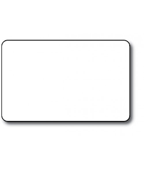 "DCS White CR80 .030"" Print Receptive Blank PVC Card"
