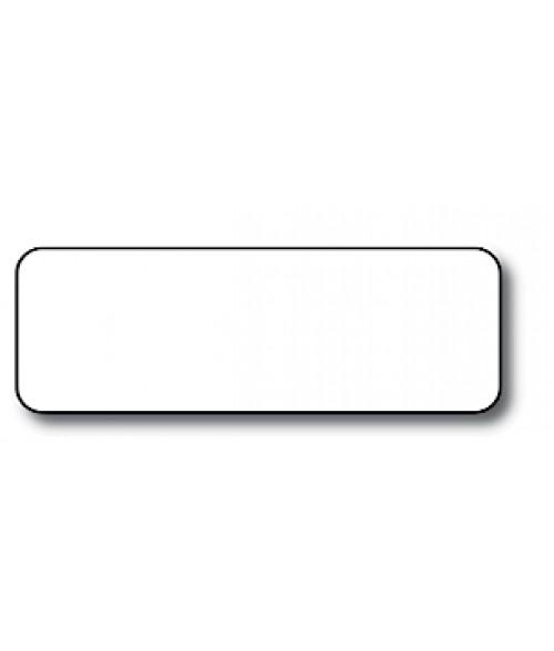 "DCS White 1"" x 3"" .060"" Print Receptive Blank PVC Card"