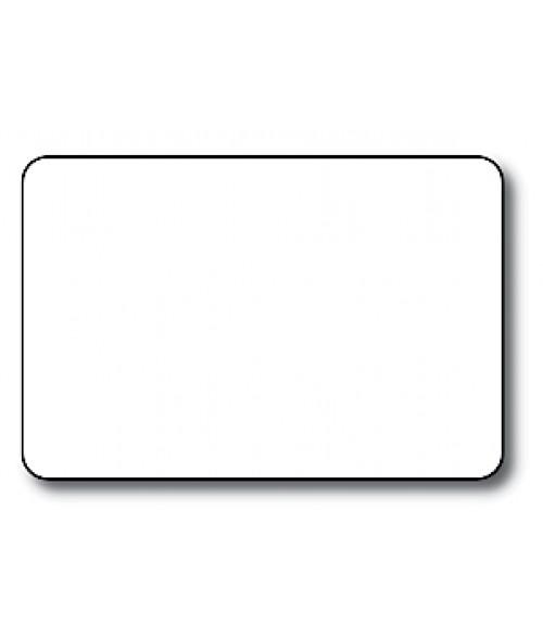 "DCS White 2"" x 3"" .060"" Print Receptive Blank PVC Card"