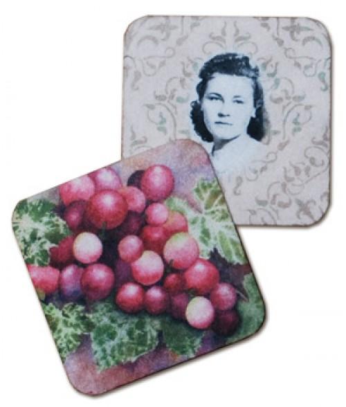 "DrySubMate 4"" x 4"" Fabric Coaster"