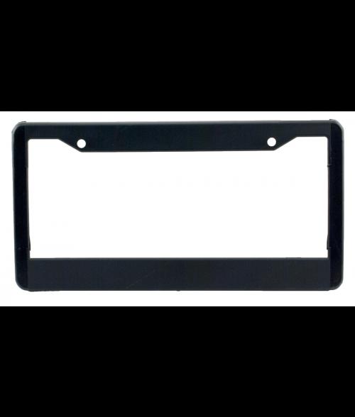Black Plastic License Plate Frame