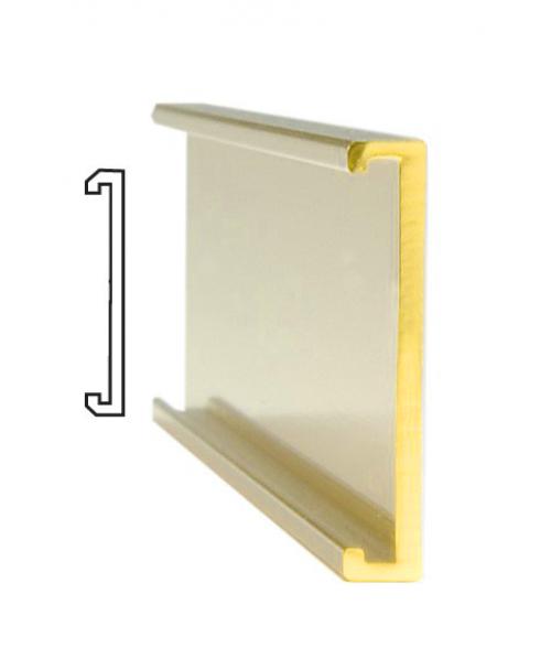 """JRS Polished Yellow Gold #114 Wall Bracket (3/4"""" x 4"""" x 1/16"""" Slot)"""