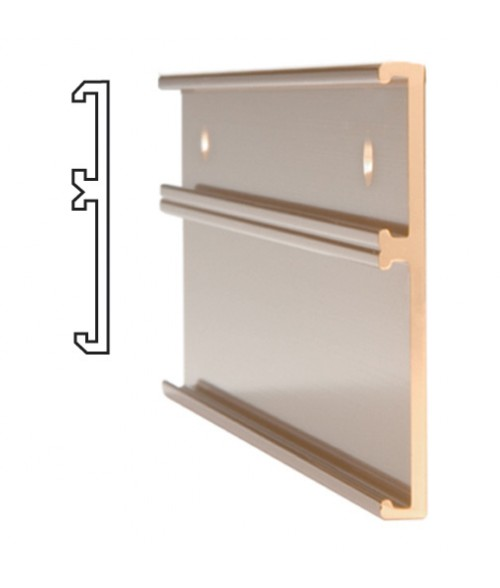"""JRS Polished Rose Gold #115 Multiple Wall Bracket (one 1"""" x 10"""" x 1/16"""" Slot and one 2"""" x 10"""" x 1/16"""" Slot)"""