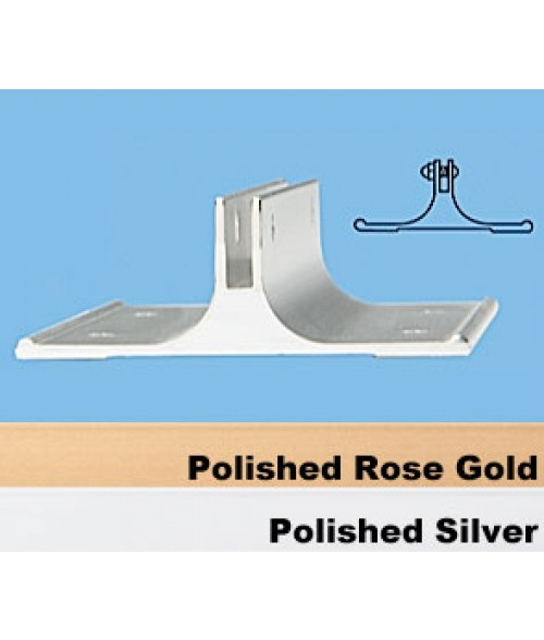 "JRS Polished Rose Gold 2"" #38 Corridor Wall Bracket with 1/8"" Slot"
