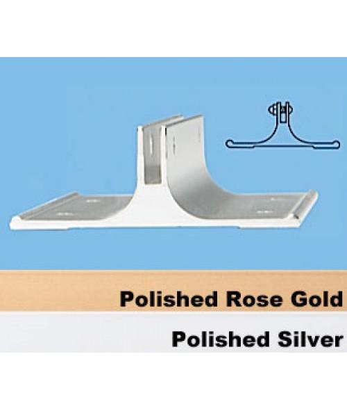 "JRS Polished Rose Gold 2"" #38 Corridor Wall Bracket with 1/8"" Slot"