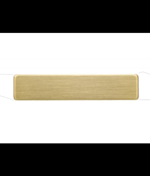 "Satin Gold 1/2"" x 2-3/8"" Premium Metal Name Tag with Pinback"