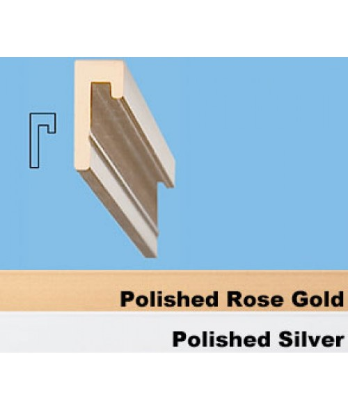 "JRS Polished Rose Gold 36"" #75 Extrusion with 1/16"" Slot"