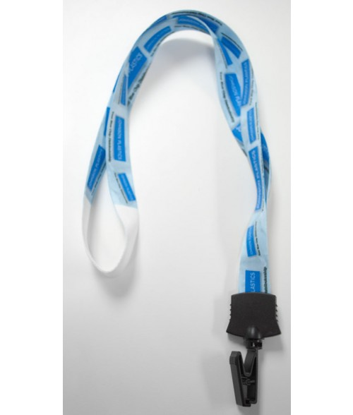 Premium Sublimatable Lanyard with Black Badge Clip