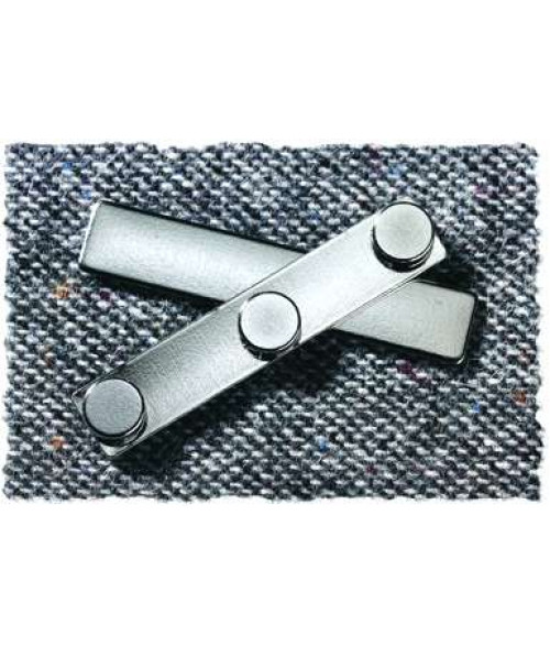 "J58 3/8"" x 2"" Plated Triple Magnetic Badge Finding"