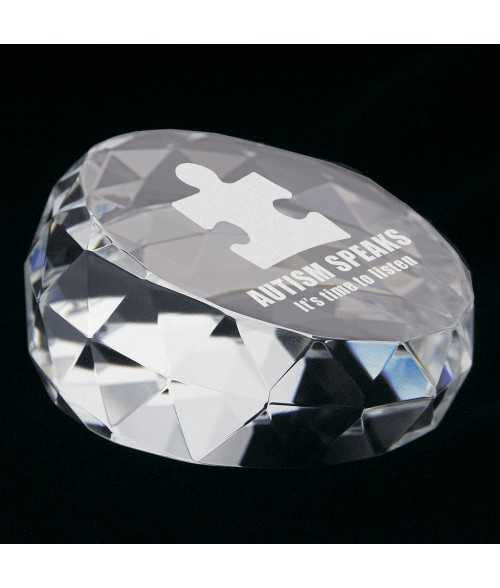 Facet Crystal Paperweight