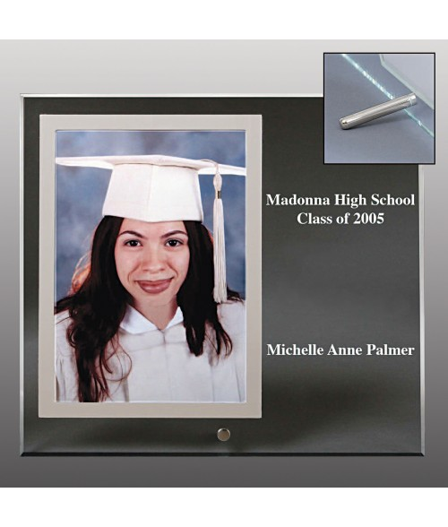 "9"" x 8"" Glass Photo Frame (Holds 4"" x 6"" Verticle Photo)"