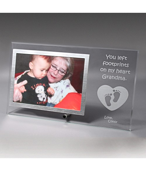 "12"" x 7"" Glass Photo Frame (Holds 5"" x 7"" Horizontal Photo)"