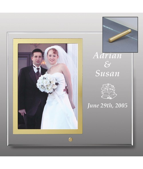 "10"" x 9"" Glass Photo Frame (Holds 5"" x 7"" Vertical Photo)"