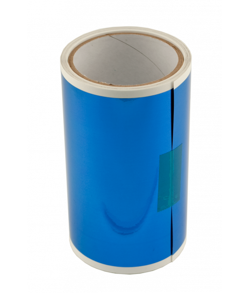 """Blue 6"""" x 25' Engravable Laser Foil"""