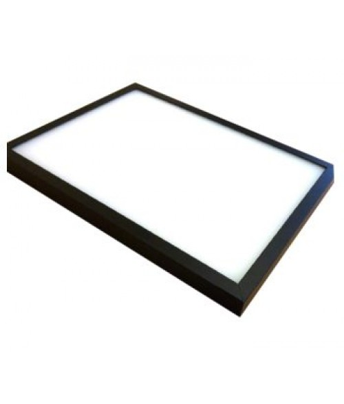 "Black 12"" x 24"" LED Light Box Frame"