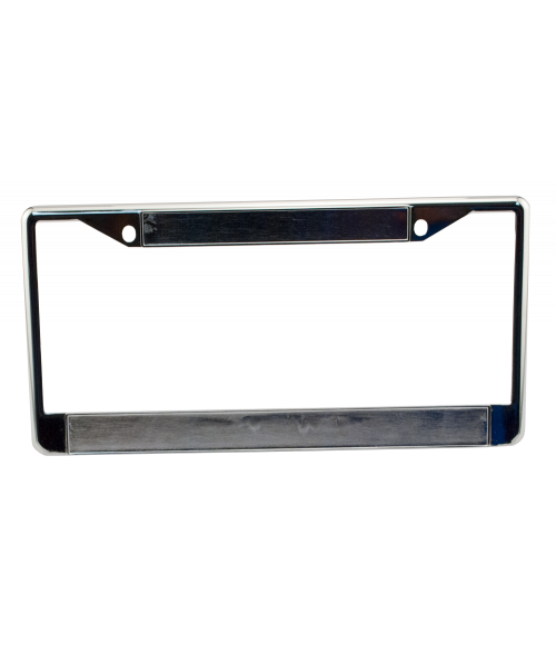 Chrome Metal License Plate Frame