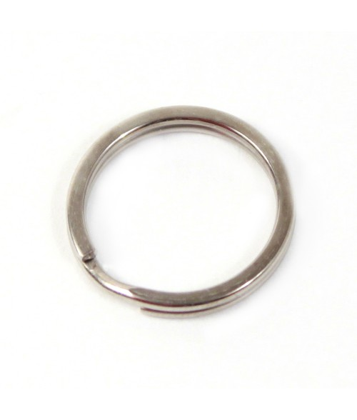 ".6"" Nickel Plated Oval Split Key Ring"