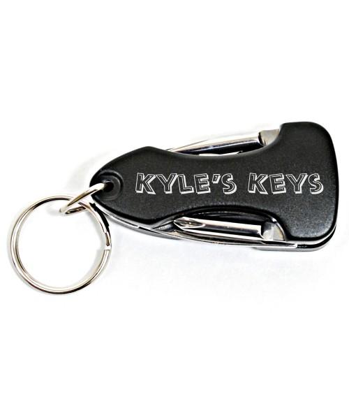 Black Anodized MultTool Keychain