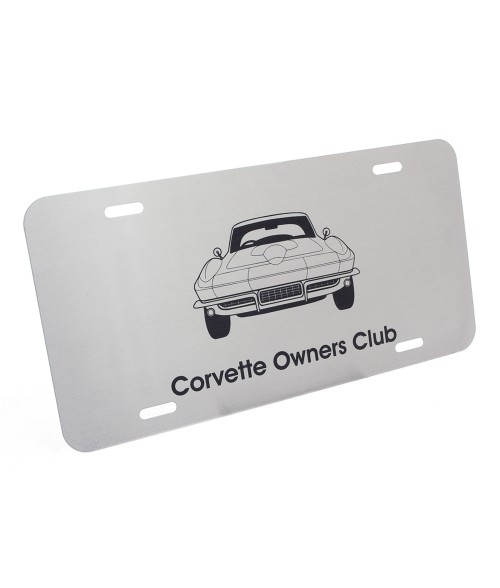 Brushed Stainless Steel Laserable License Plate
