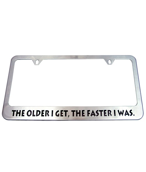 Brushed Stainless Steel Laserable License Plate Frame