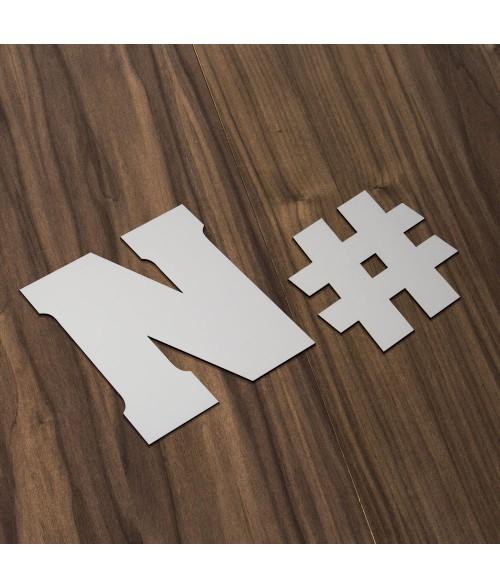 Love Letters Matte White Slab Serif Sublimatable Letters