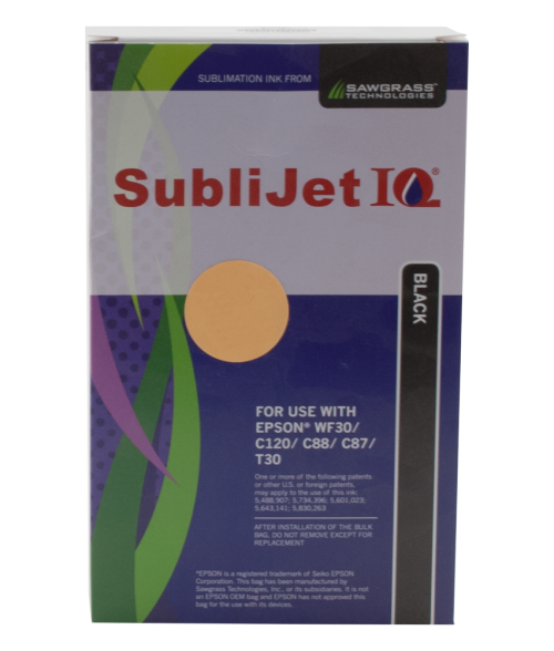 Sawgrass Sublijet-IQ Black 90ml Ink Bag (Epson WF30|C120|C88|C86|C84)