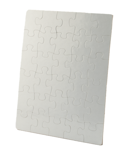 "7-1/2"" x 9-1/2"" Rectangle Cardboard Jigsaw Puzzle (30 Pieces)"