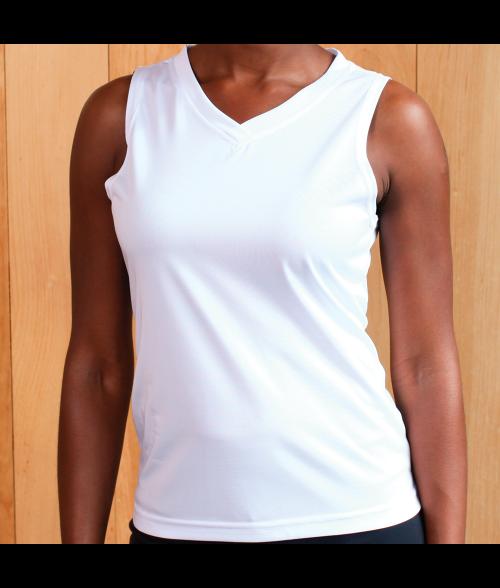 Vapor Ladies White Micro Singlet (XS)