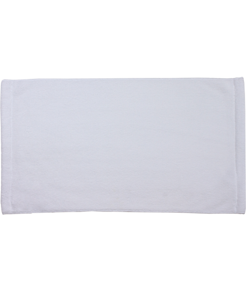 "White 11"" x 18"" Microfiber Velour Towel"