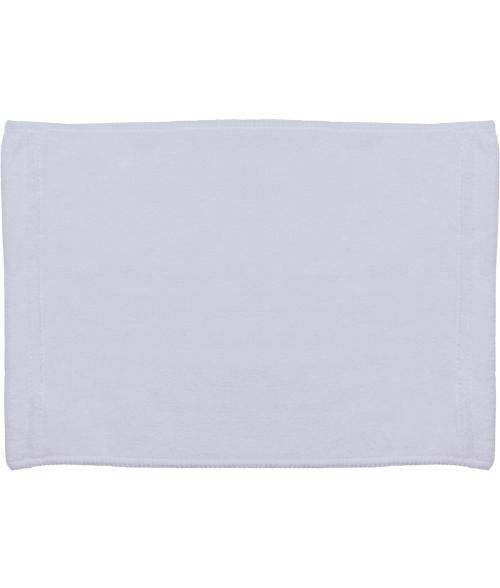 "White 8"" x 12"" Microfiber Velour Towel"