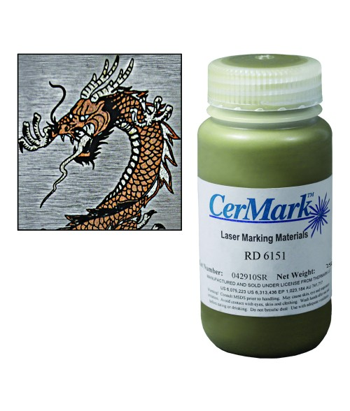 CerMark Bright Copper Laserable Metal Marking Paste (LMM6150 - 250g)