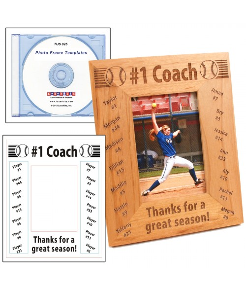 LaserBits Photo Frame Templates CD