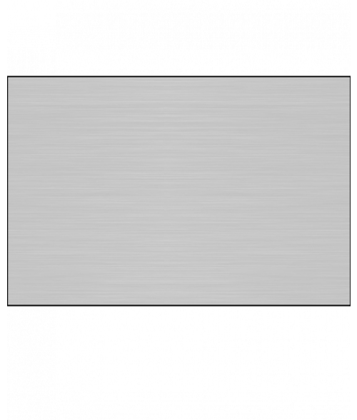 "Unisub ChromaLuxe Gloss Brushed Silver 12"" x 24"" 1-Sided Aluminum Sheet"
