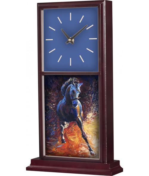 "Unisub Mahogany 15-1/4"" x 8-1/2"" Mantle Clock"