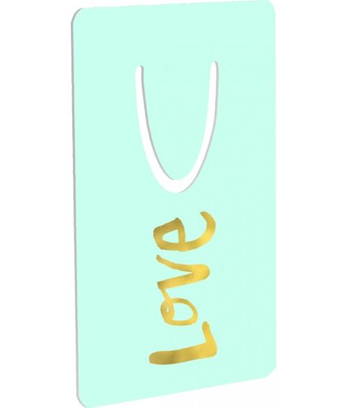 """Unisub 2"""" x 3"""" Aluminum Bookmark"""