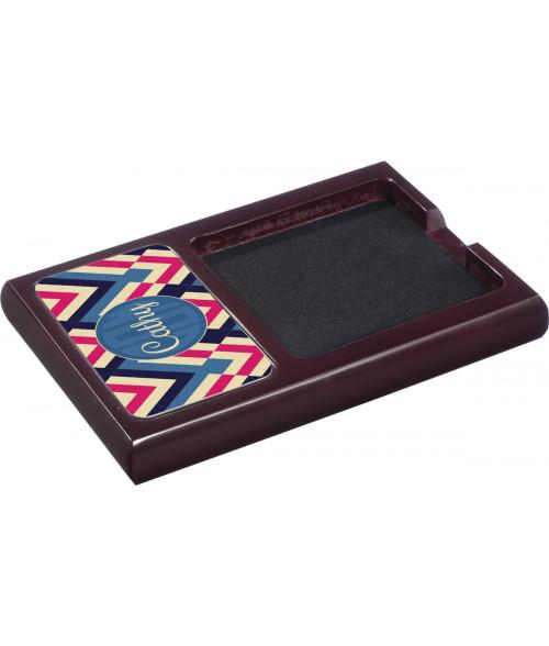 Unisub Mahogany Wood Note Holder