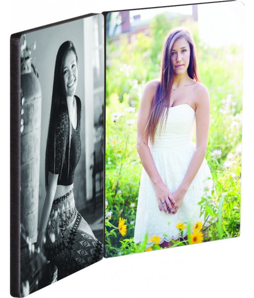 "Unisub ChromaLuxe 5"" x 3-1/2"" Flat Top Double Hardboard Photo Panel Set"