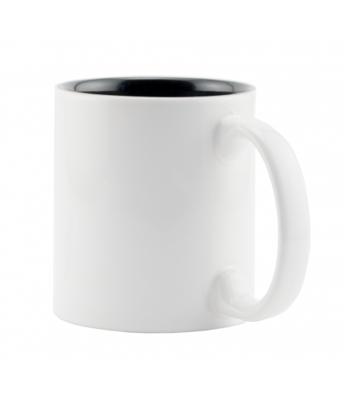 Rhinocoat White/Black 11oz Two Tone Mug (36/Case)