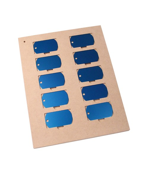 """LaserBits 7"""" x 9"""" Jig for (10) Dog Tags"""